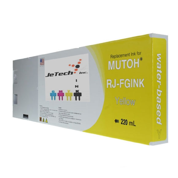 Mutoh RJ-FGINK-YE2 Yellow 220ml ink cartridge