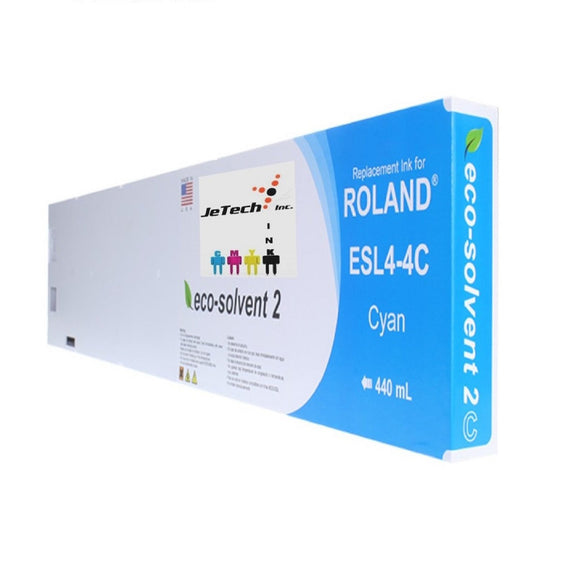 Roland ESL4-4 Max2 Eco Solvent 440ml compatible Cartridge Cyan
