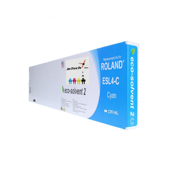 Roland ESL4 Max2 220ml Eco Solvent Ink Cartridge Cyan