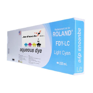 Roland* Aqueous Dye 220ml (FDY-LC) LIght Cyan