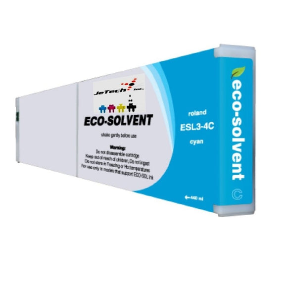 Roland ESL3 400ml compatible Eco Solvent ink cartridge Cyan