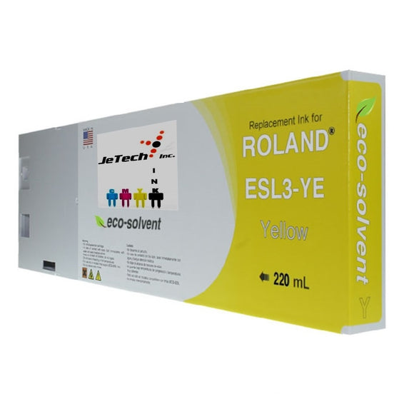 Roland ESL3 220ml Eco solvent ink cartridge yellow