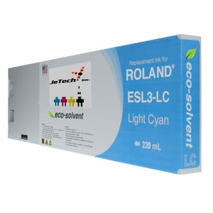 InXave Roland ESL3 220ml Eco solvent ink cartridge light cyan