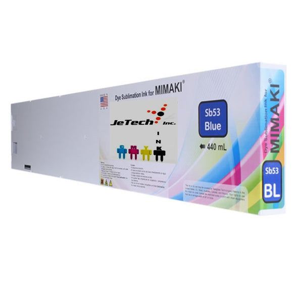 Mimaki SB53-BL-44 dyesub ink cartridge 440ml blue