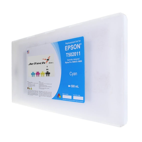 Epson T502011 Compatible Cyan 500ml Ink Cartridge
