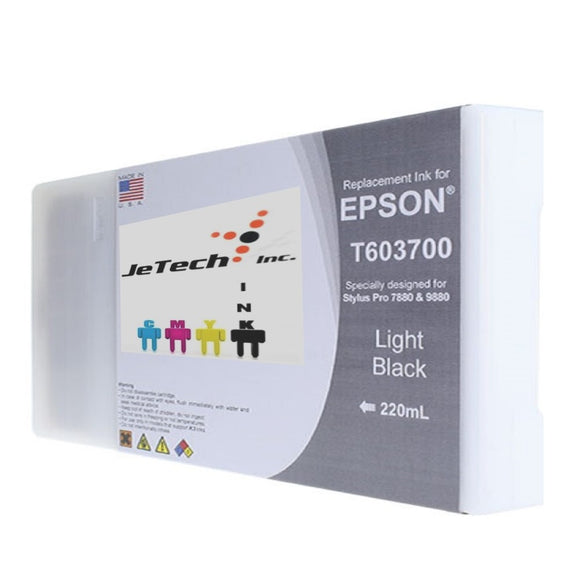 InXave Epson T603700 220ml ink cartridge ultrachrome k3 Light Black
