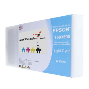 Epson T603500 220ml ink cartridge ultrachrome k3 Light Cyan