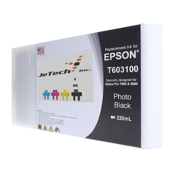 Epson T603100 220ml ink cartridge ultrachrome k3 Photo Black