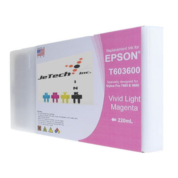 Epson T603600 220ml ink cartridge ultrachrome k3 Vivid Light Magenta