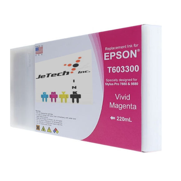 Epson T603300 220ml ink cartridge ultrachrome k3 Vivid Magenta