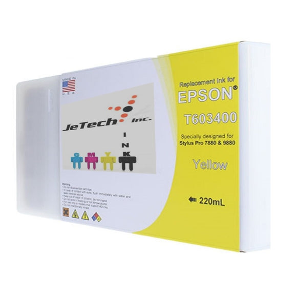 Epson T603400 220ml ink cartridge ultrachrome k3 Yellow