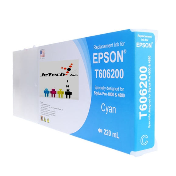Epson T606200 Compatible Cyan 220ml Ink Cartridges