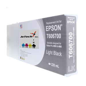 Epson T606700 Compatible Light Black 220ml Ink Cartridges