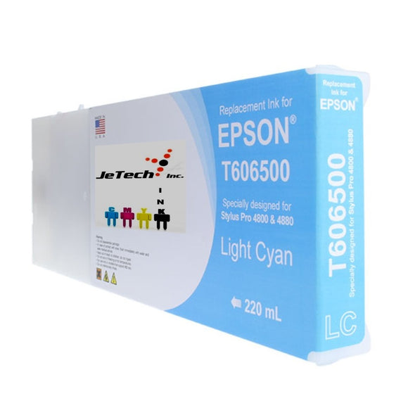Epson T606500 Compatible Light Cyan 220ml Ink Cartridges