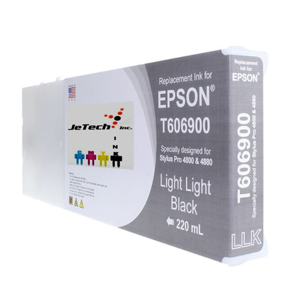 Epson T606900 Compatible Light Light Black 220ml Ink Cartridges