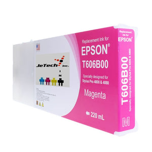 Epson T606B00 Compatible Magenta 220ml Ink Cartridges