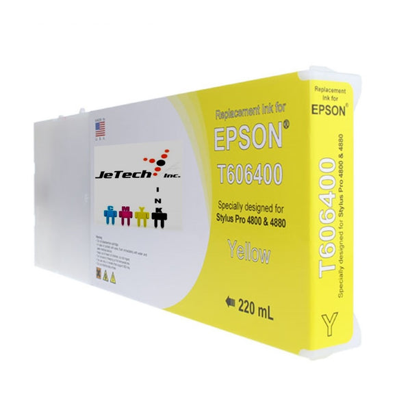 Epson T606400 Compatible Yellow 220ml Ink Cartridges