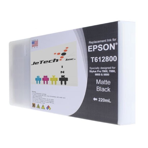 Epson T612800 220ml ink cartridge ultrachrome k3 Matte Black