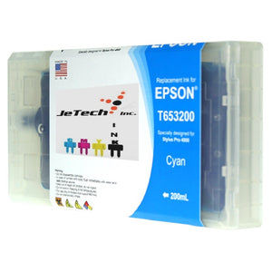 Epson T653200 Compatible Cyan 200ml Ink Cartridge