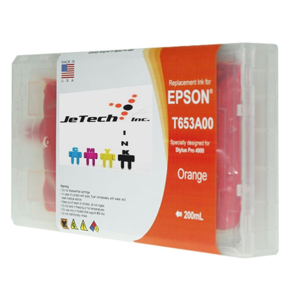 Epson T653A00 Compatible Orange 200ml Ink Cartridge
