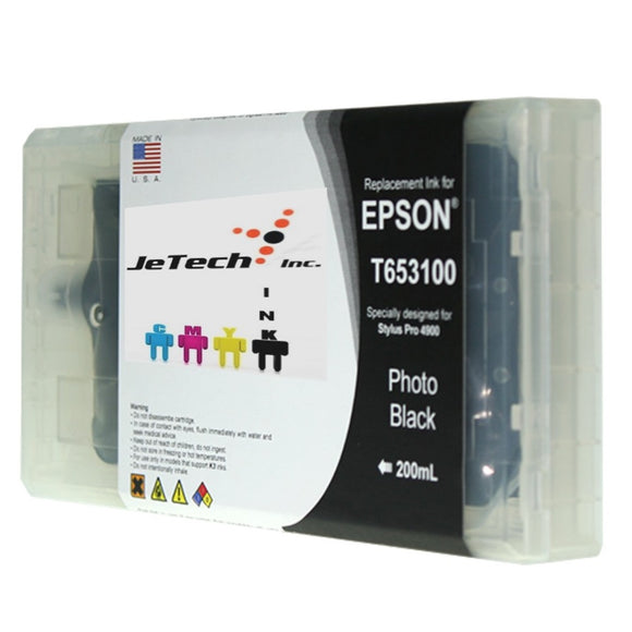 Epson T653100 Compatible Photo Black 200ml Ink Cartridge
