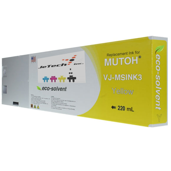 InXave Mutoh VJ-MSINK3A 220ml Yellow