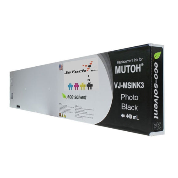 InXave Mutoh VJ-MSINK3-PK440 440ml Photo Black