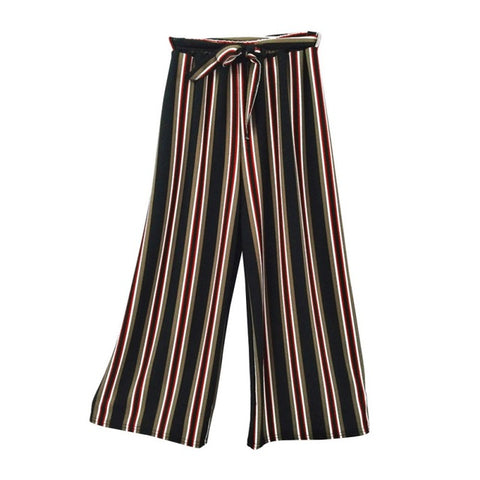 High Waisted Stripe Pants
