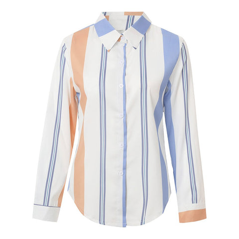 Stripe Mix Blouse