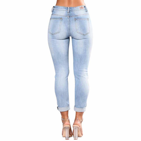 Jeans mit Rosenapplikation