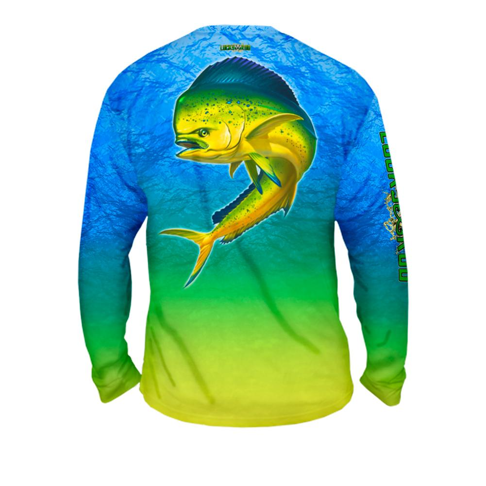 Mahi Nation Mens Performance Long Sleeve Allover