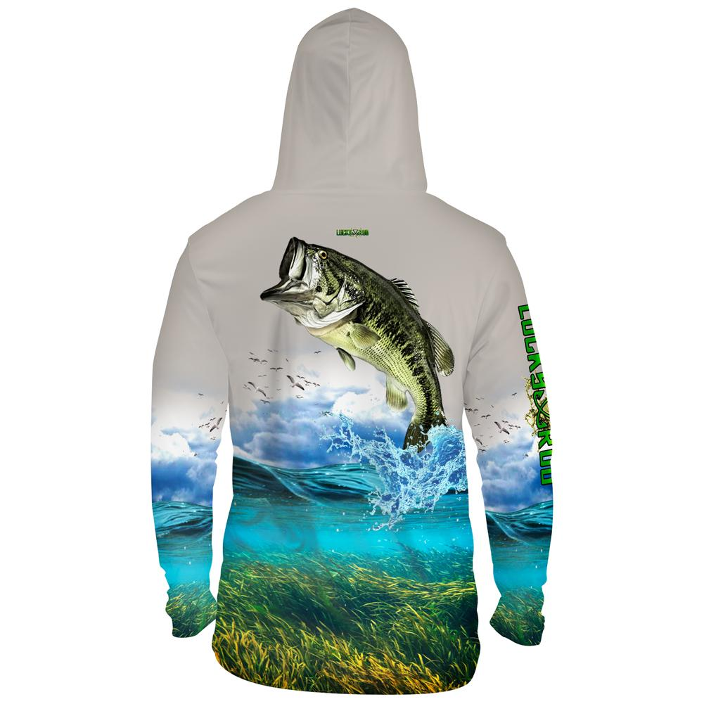 Shallow Attack Bass Mens Performance LS With Hood