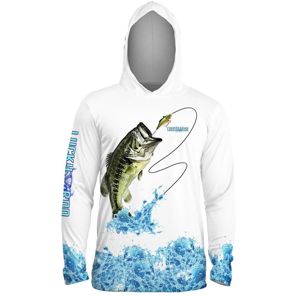 Bass Splash Mens Performance LS With Hood