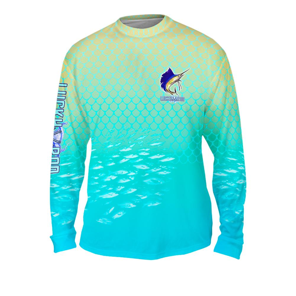 Sailfish Spin Mens Performance Long Sleeve Allover