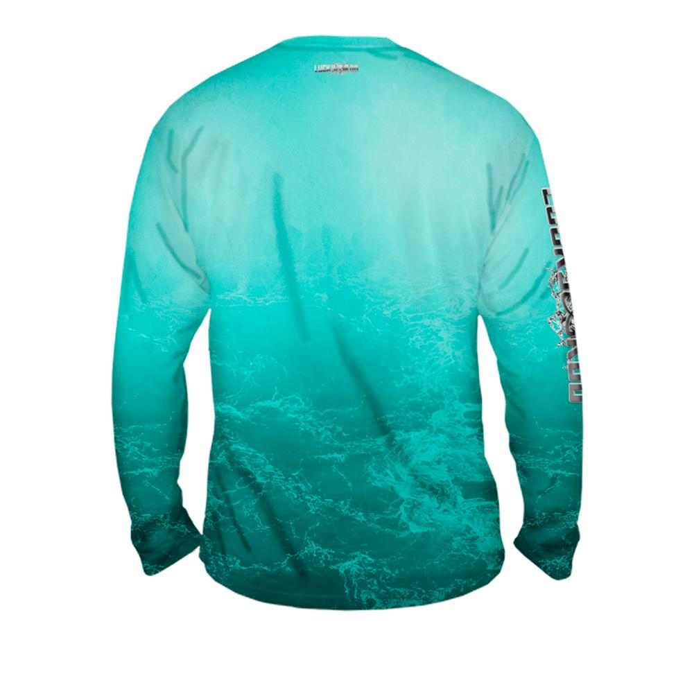 Metalic Marlin Mens Performance Long Sleeve Allover