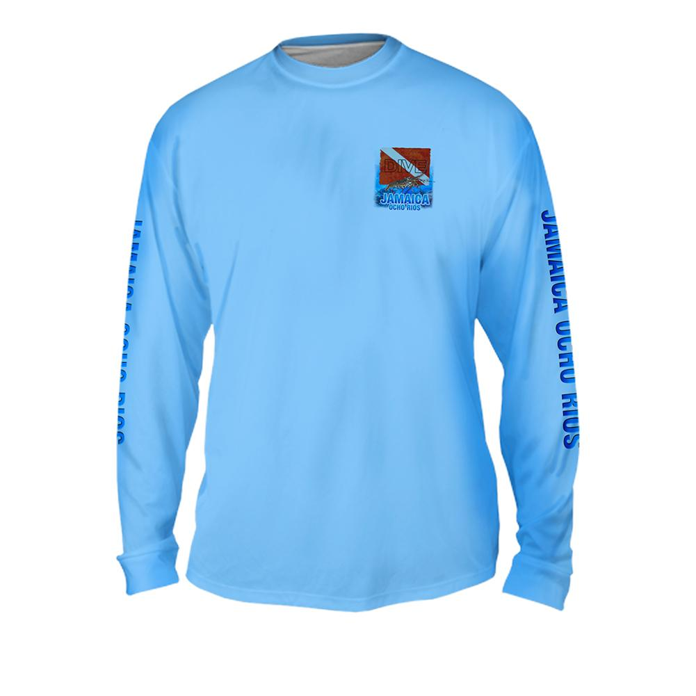 Lobster Dive - Free Stock Art - Mens Performance Long Sleeve Spot Print