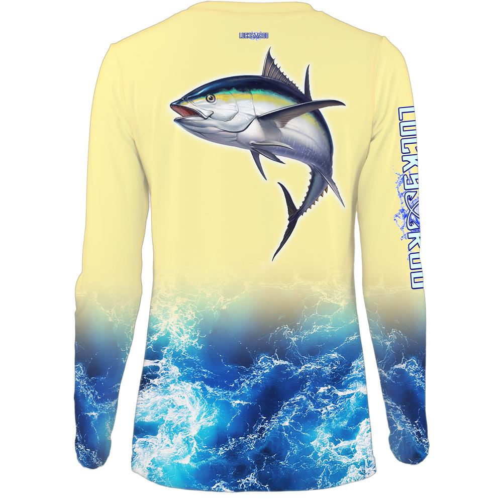 Rockin Tuna Womens LS V-Neck