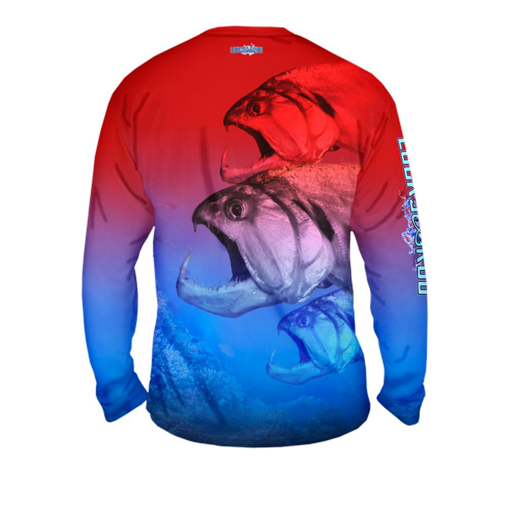 Three Head Beast Mens Performance Long Sleeve Allover