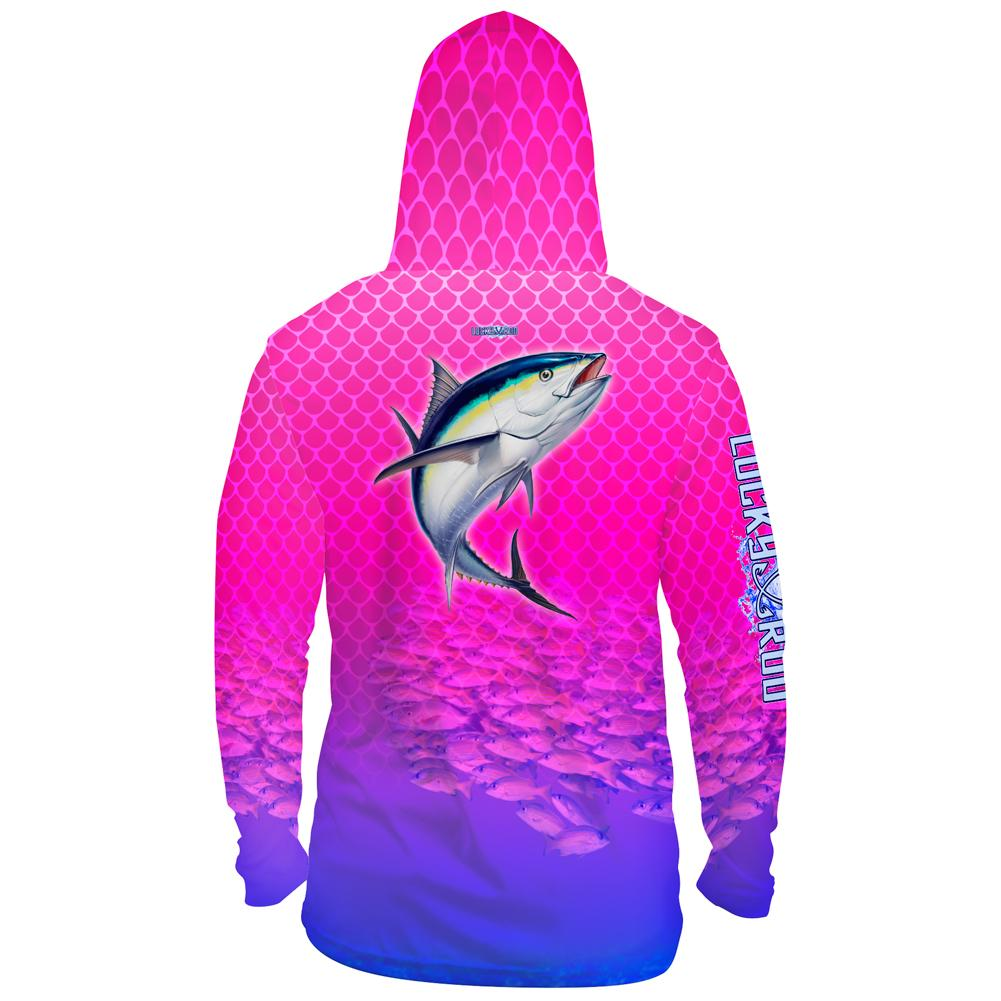 Tuna Chomp Mens Performance LS With Hood