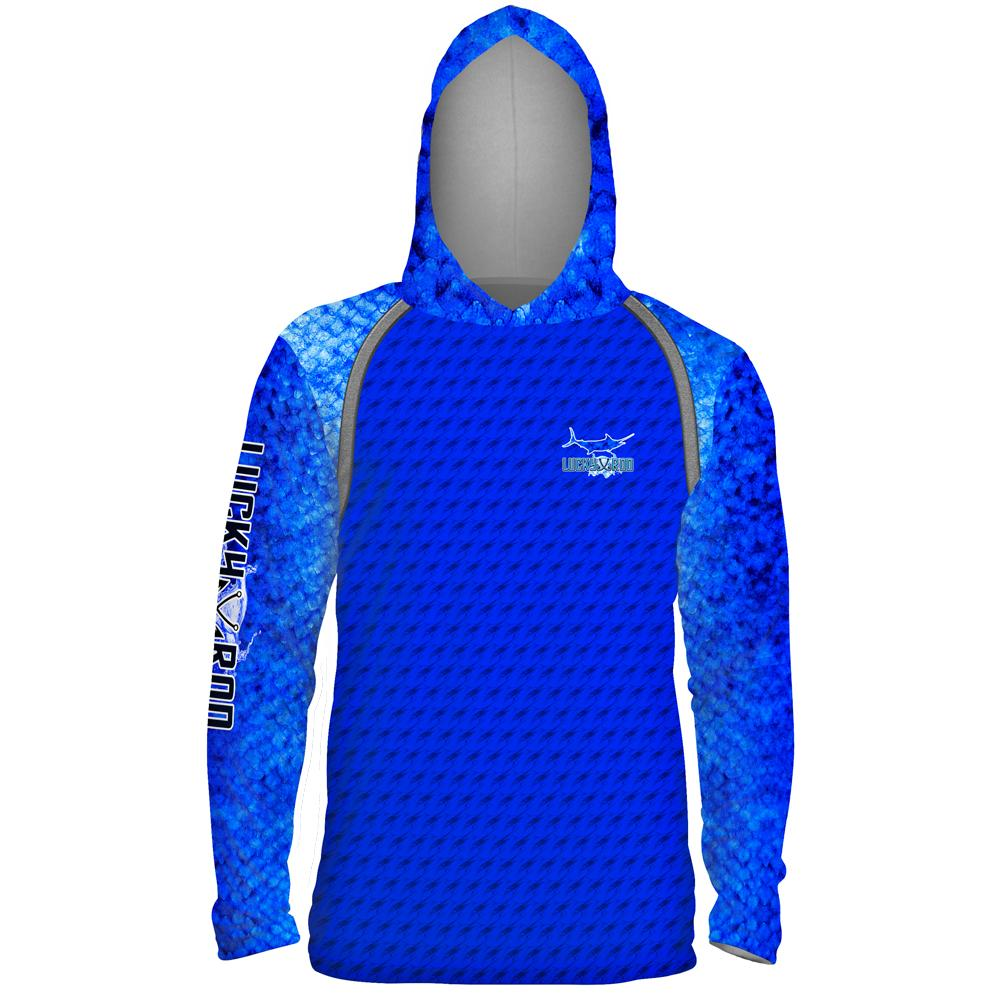 Marlin Fight Shadow Mens Performance LS With Hood