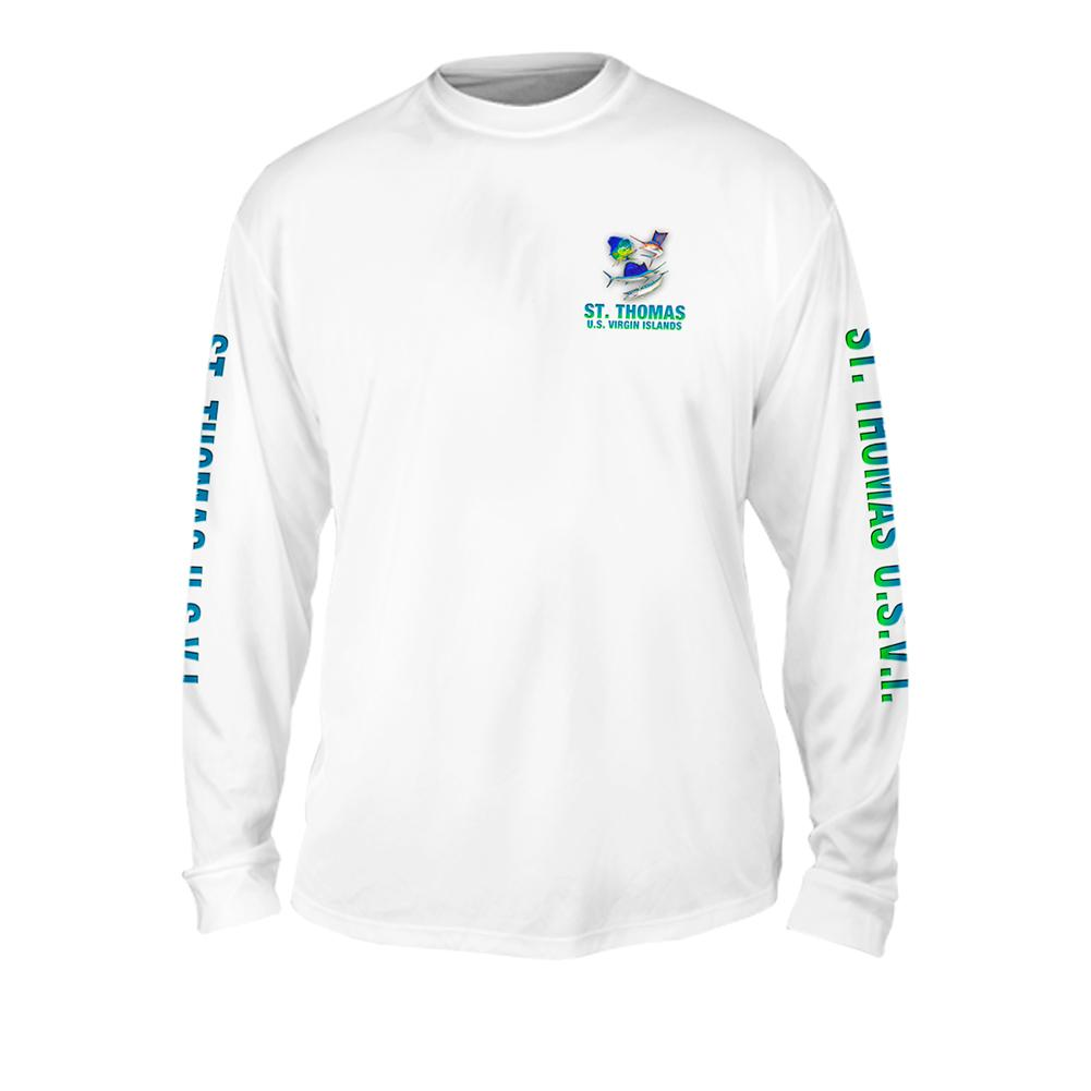 Funky Fish Group - Free Stock Art - Mens Performance Long Sleeve Spot Print
