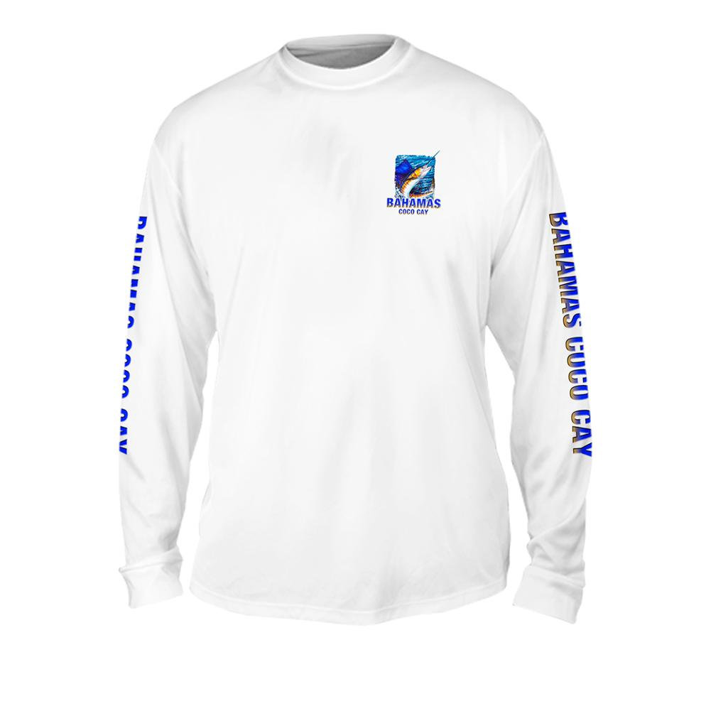 Sailfish Sea Style - Free Stock Art - Mens Performance Long Sleeve Spot Print