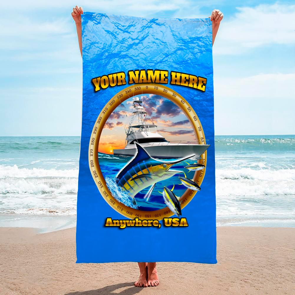 Marlin On The Hunt - Premium & Standard Towel
