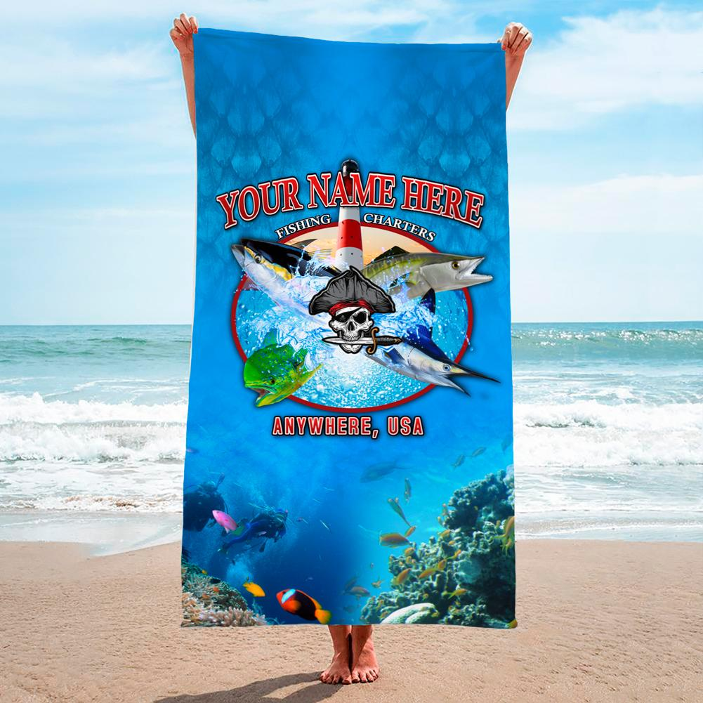 Lighthouse Point Medley - Premium & Standard Towel