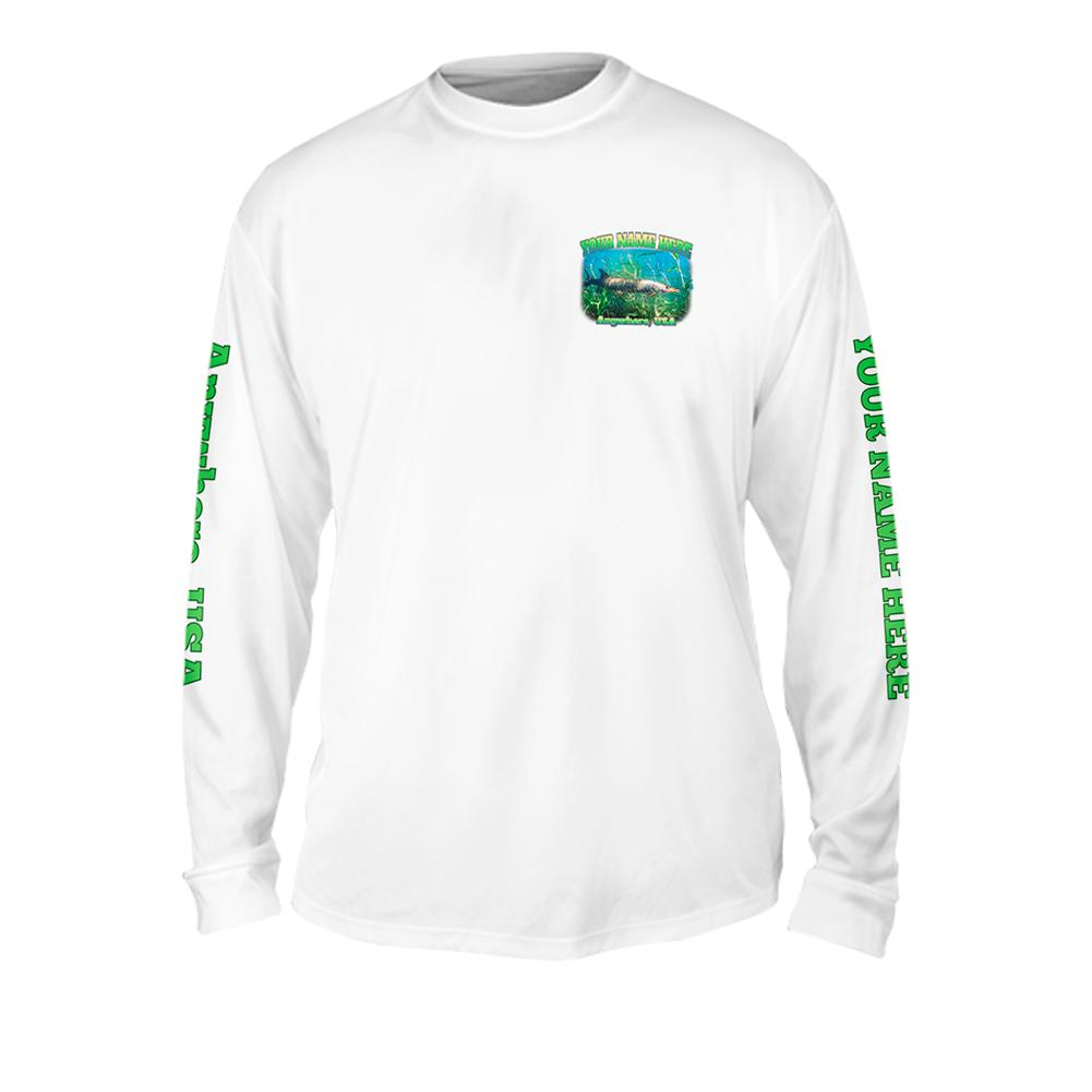 Muskie Life - Free Stock Art - Mens Performance Long Sleeve Spot Print