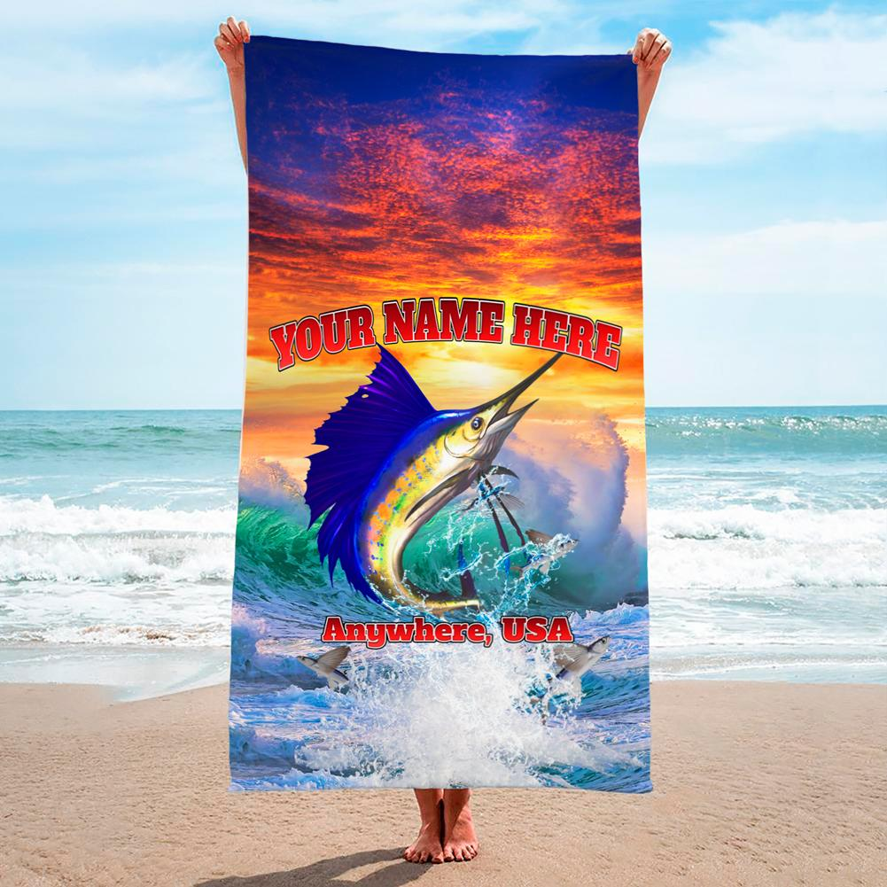 Sailfish Sunset - Premium & Standard Towel