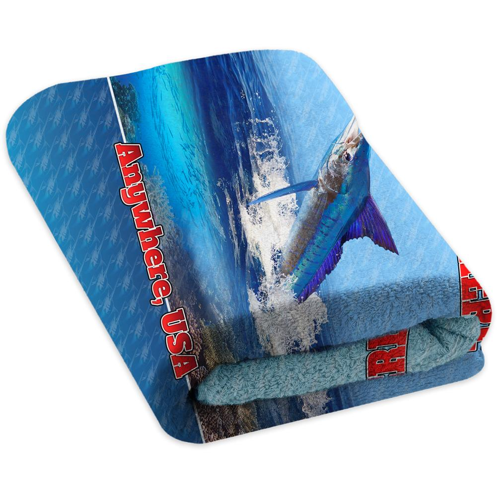 Marlin Reef Light Blue - Premium & Standard Towel