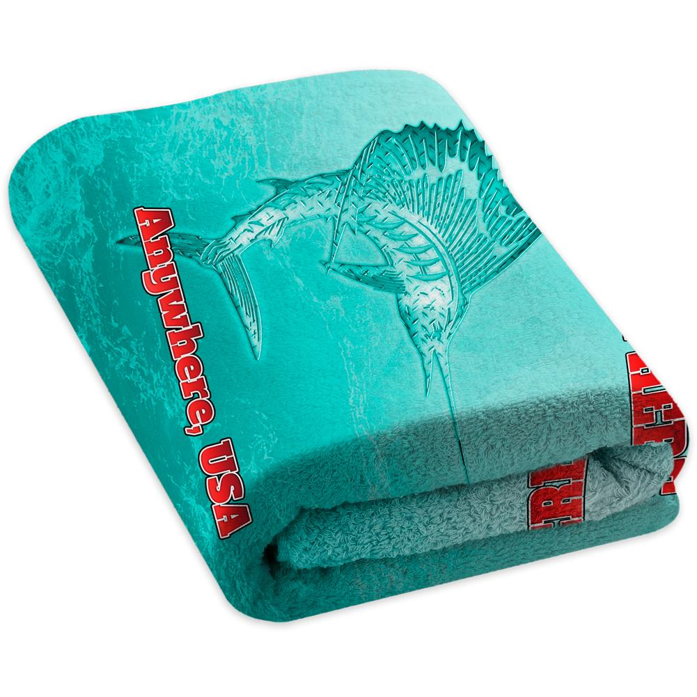Metallic Marlin Mint - Premium & Standard Towel