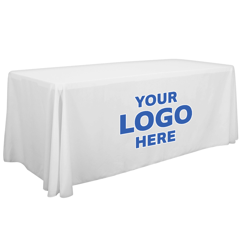 4ft Promotional Tablecloth - Standard Poplin - 3 Sided