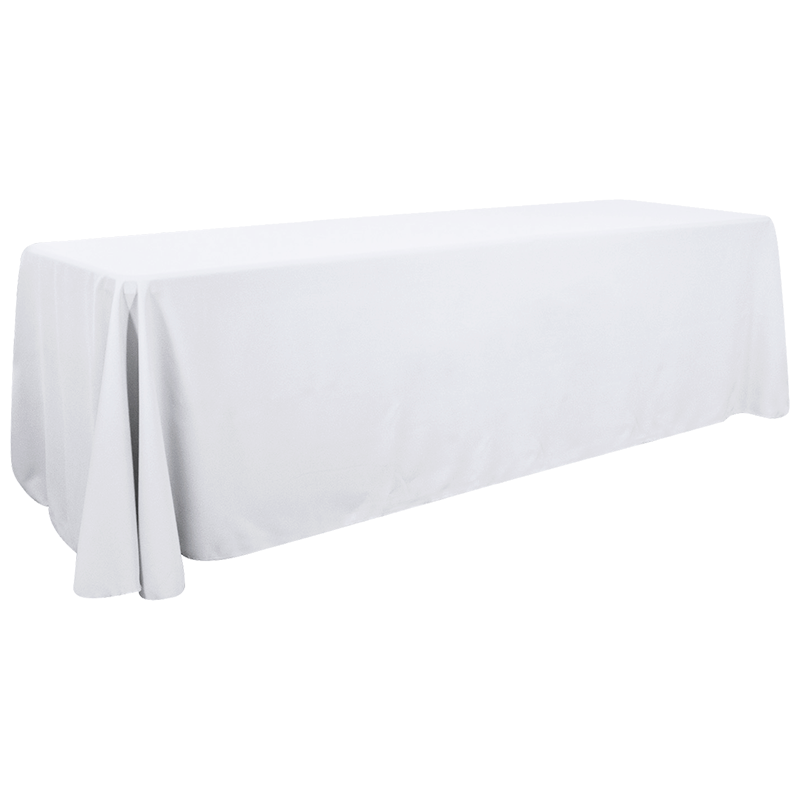 8ft Promotional Tablecloth - Premium Twill - 4 Sided